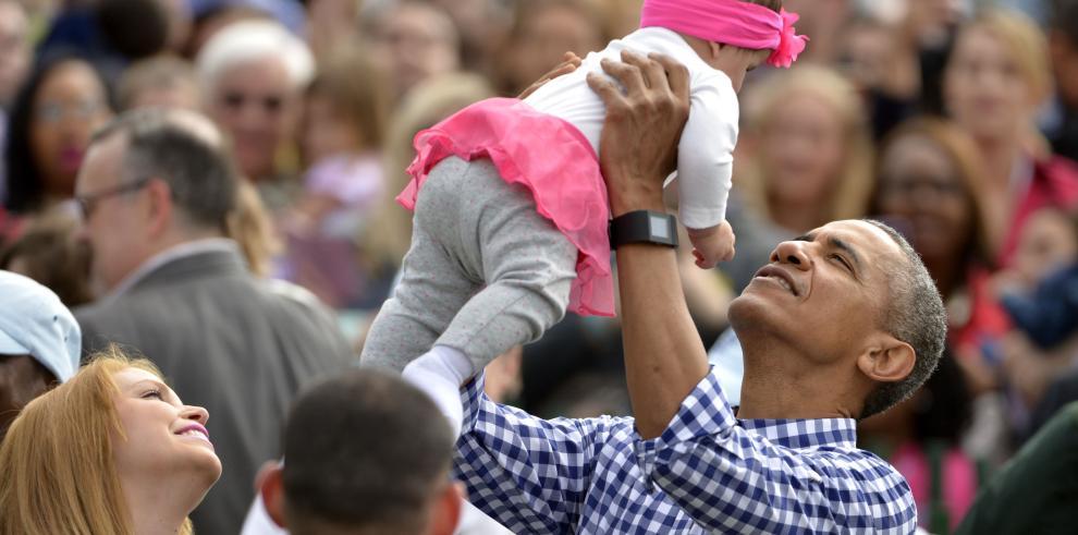 Los Obama abren la Casa Blanca a niños para celebrar la Pascua