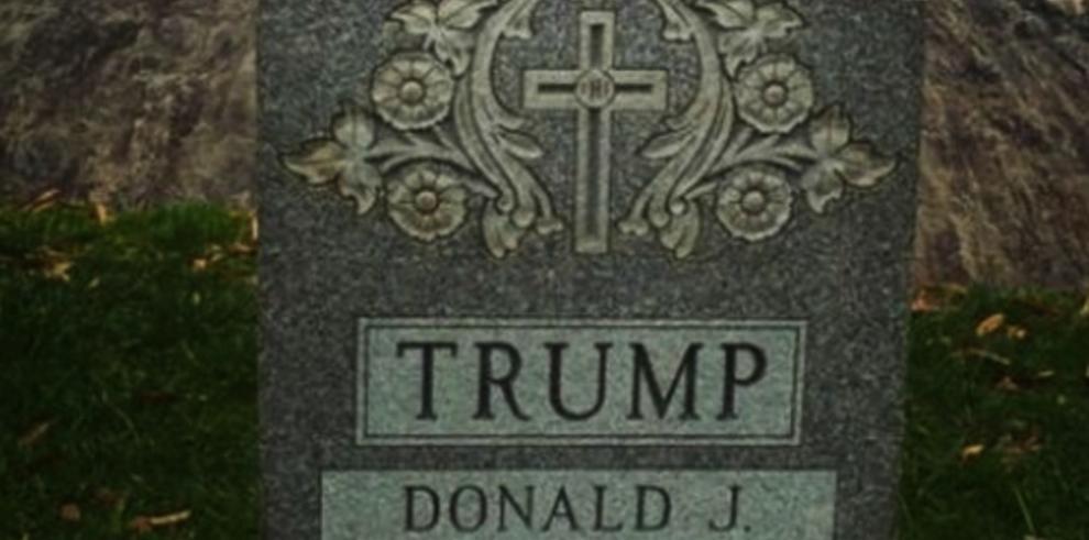 Aparece en Nueva York misteriosa lápida con el nombre de Donald Trump