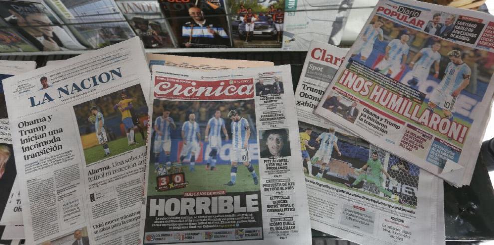 Indignación en Argentina por la derrota frente a Brasil
