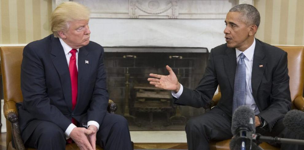 Obama y Trump inician la transición en la Casa Blanca