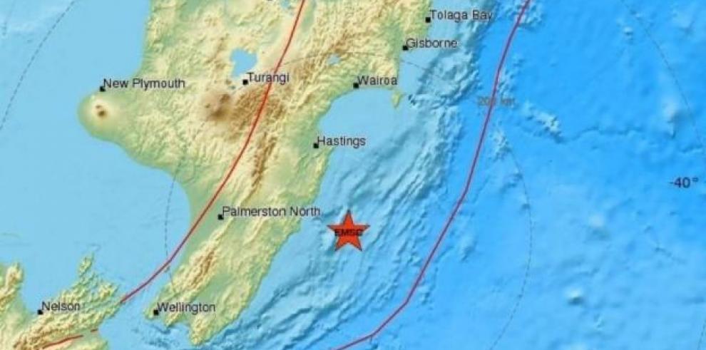 Terremoto de 6 grados sacude el norte de Nueva Zelanda