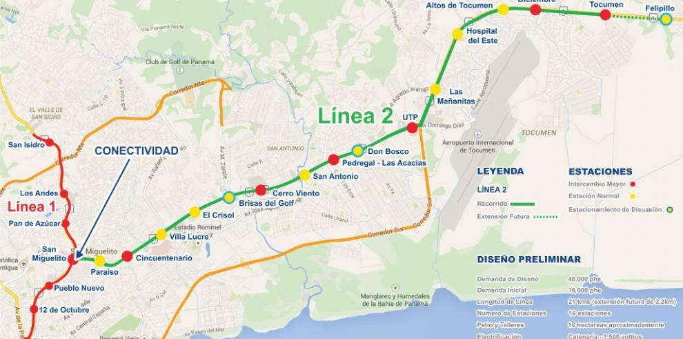 La Línea 2 cuenta con 27% de avance y estaría lista en abril de 2019