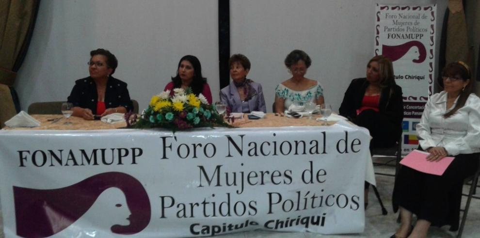 FONAMUPP reconoce a mujeres políticas destacadas de Chiriquí