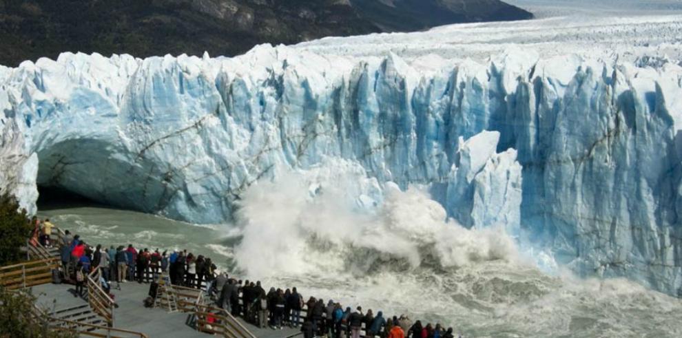 Vista panorámica del Perito Moreno