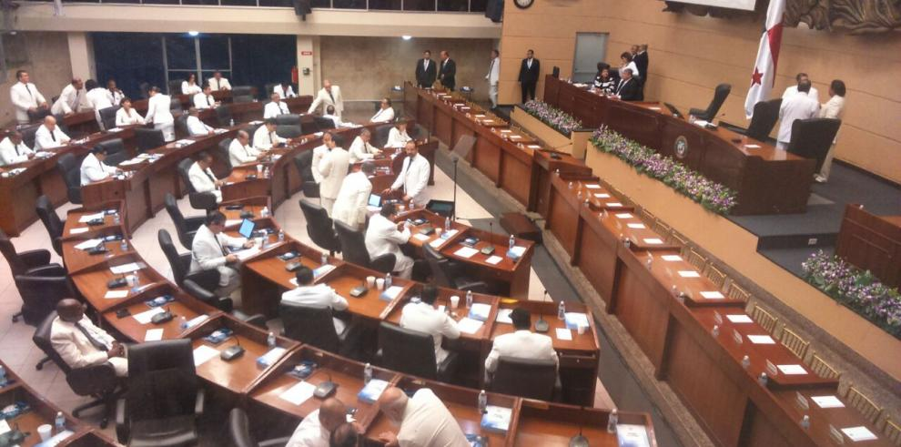 CD se retiró del recinto legislativo