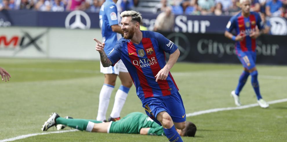 El tridente del Barcelona acaba con la ilusión del Leganés
