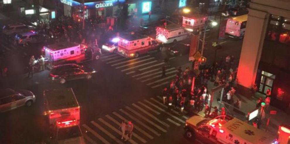 Explosión en Nueva York deja 25 heridos