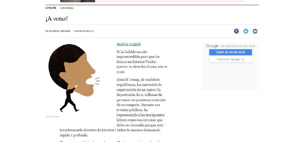 The New York Times pide votar a los latinos votar