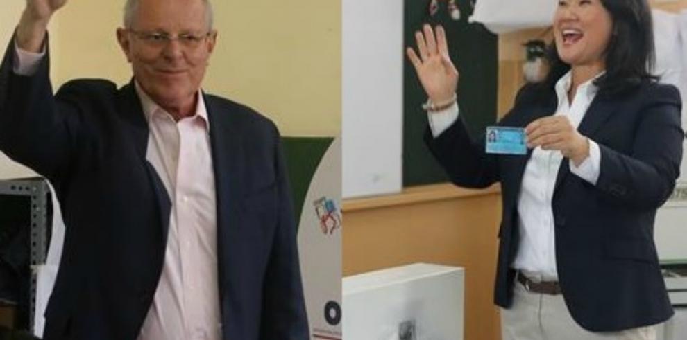 Keiko y Kuczynski se disputan Presidencia de Perú sin incidentes