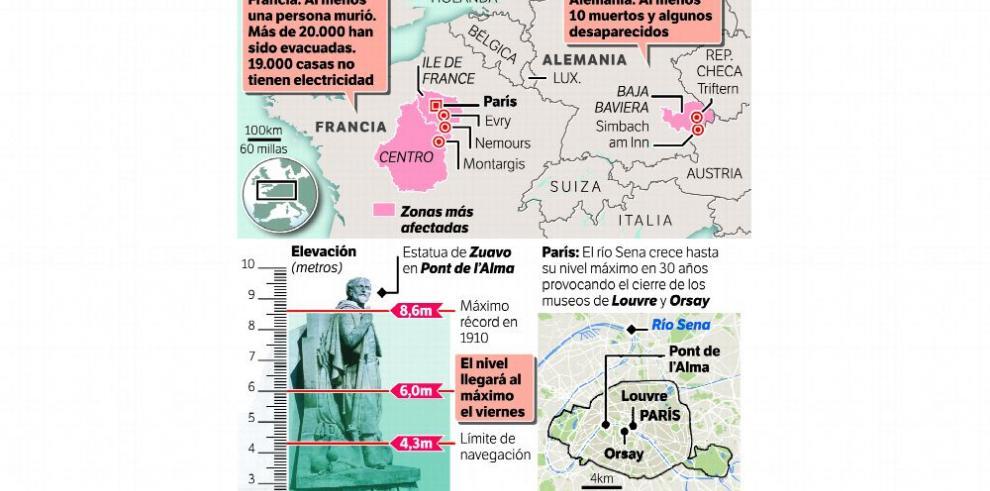 Fuertes y continuas lluvias causan estragos en Francia
