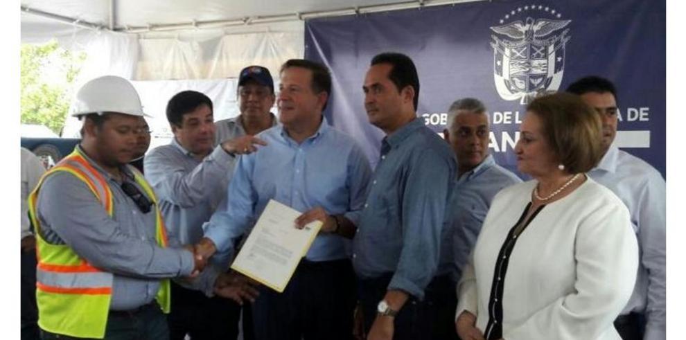 Varela anuncia obras en construcción en Chiriquí