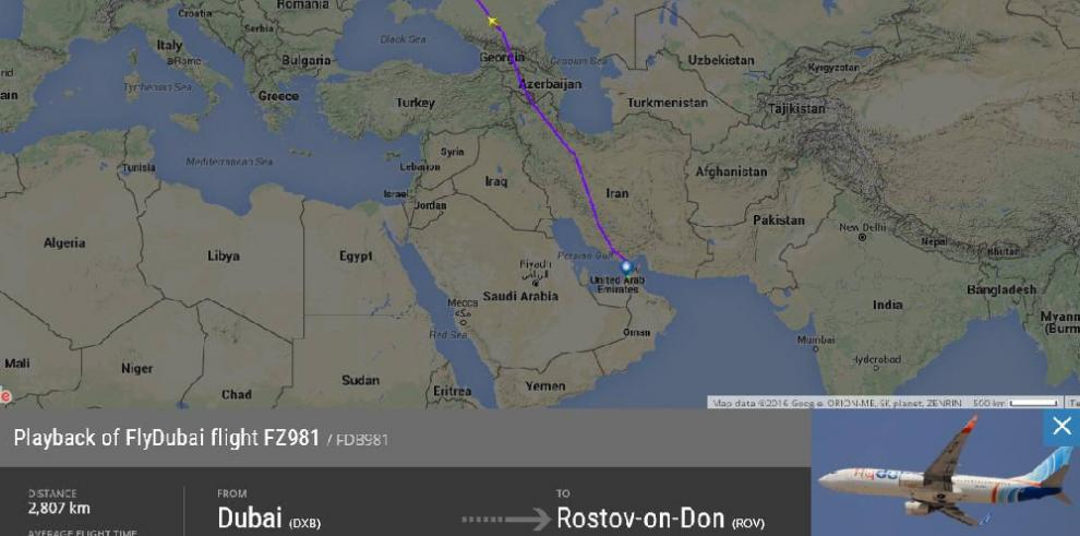 Avión Boeing 738se estrella en Rusia, con 55 pasajeros abordo