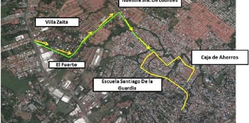 Desvío en el recorrido de las rutas cortas de la Estación San Isidro