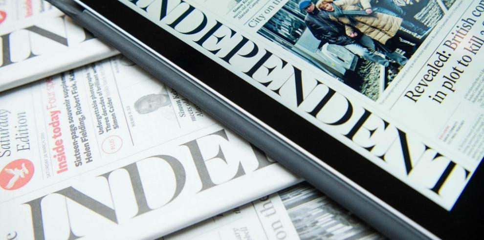Última edición en papel del diario británico The Independent