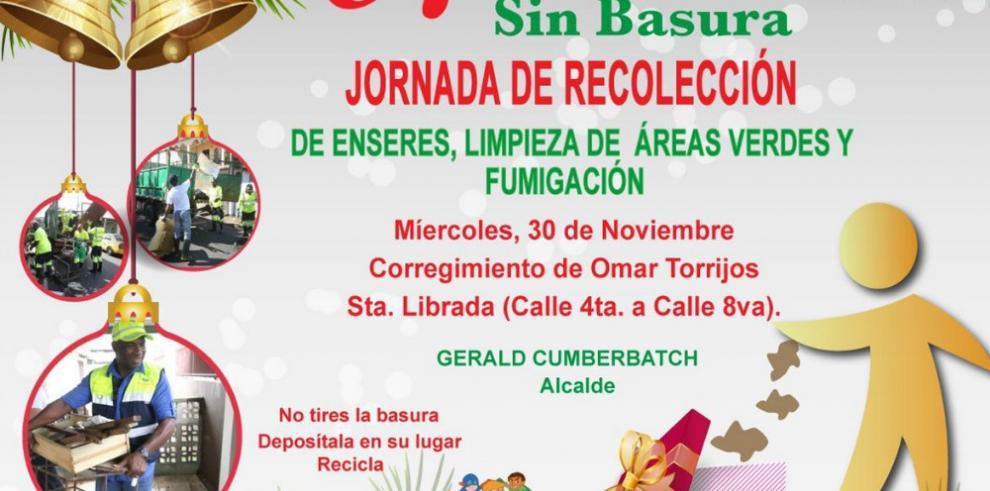 """Alcaldía de San Miguelito continúa con los operativos """"Navidad sin Basura"""""""