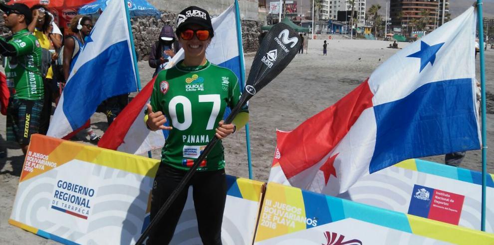 Dos de bronce para Christine Kelso en Juegos Bolivarianos de Playa