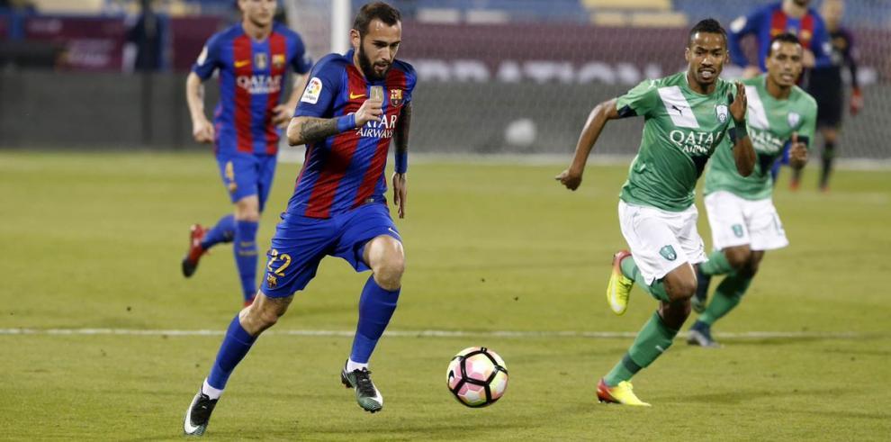 Paco Alcácer por fin se estrena como goleador con el Barça