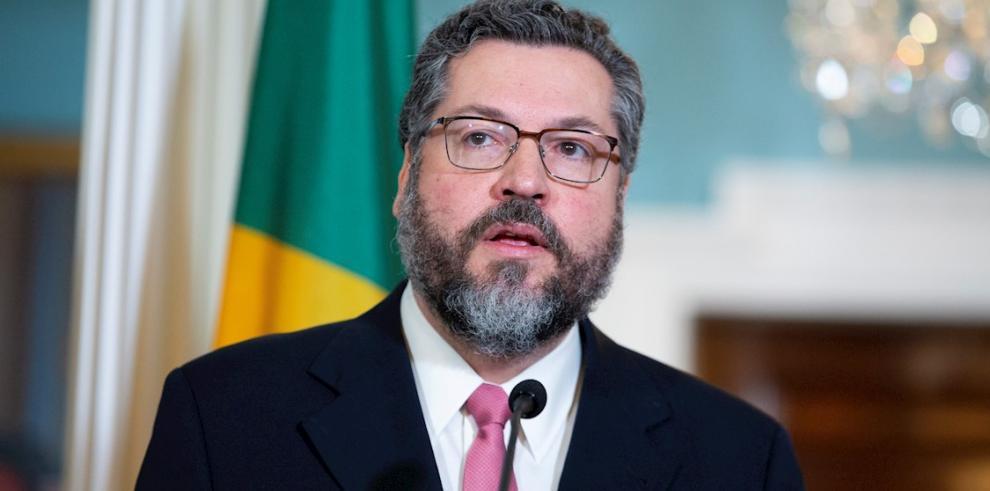 El ministro brasileño de Relaciones Exteriores, Ernesto Araújo.