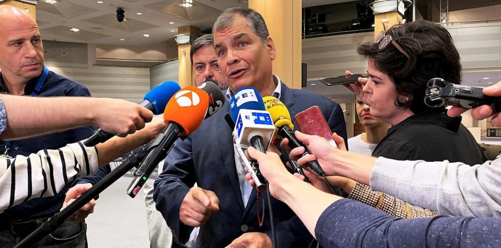 El expresidente Rafael Correa