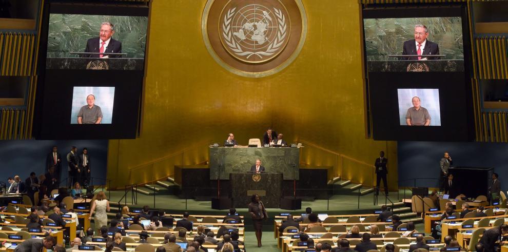 Raúl Castro pide ante la ONU el fin del embargo estadounidense