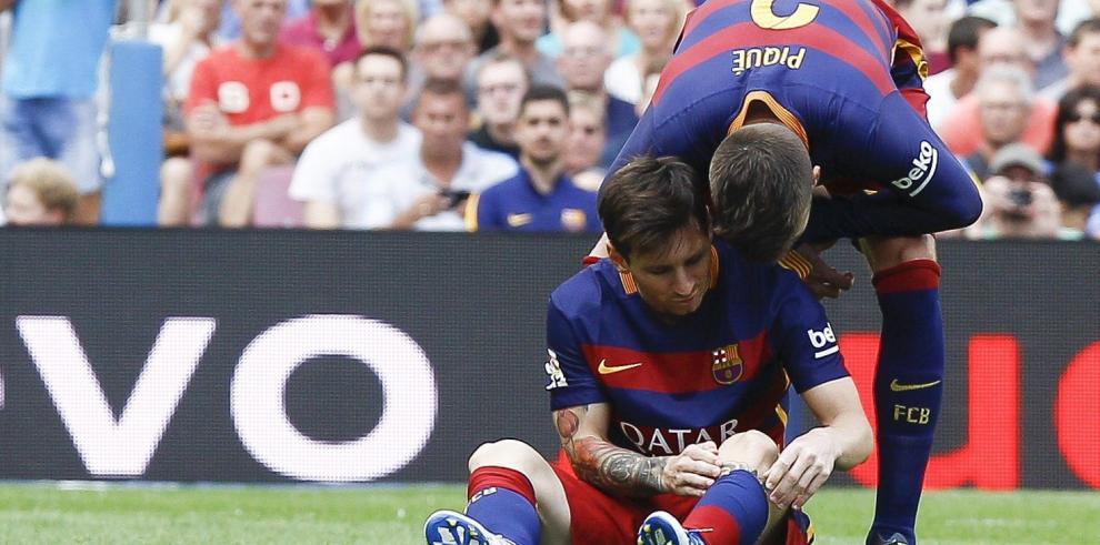 Messi estará de baja entre 7 y 8 semanas por lesión en la rodilla