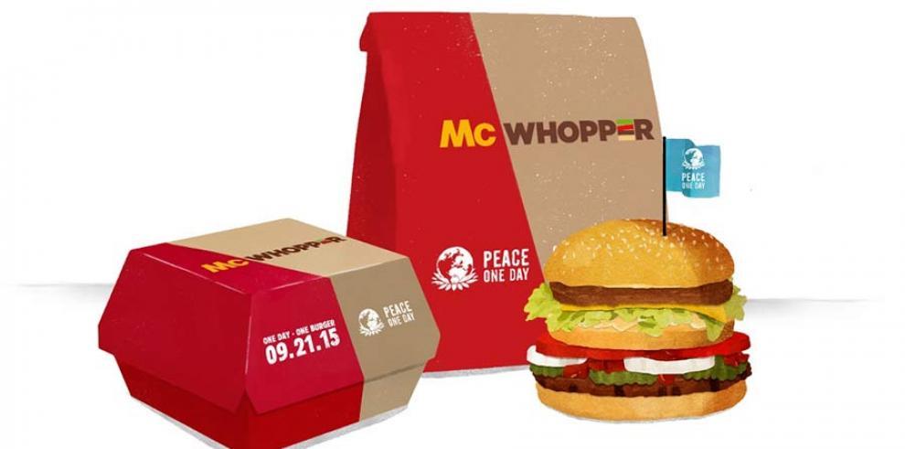 McWhopper por la paz aviva tensiones entre Burger King y McDonald's