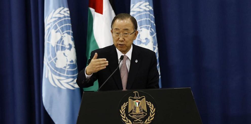 Ban Ki-moon pide a Palestina retomar negociaciones de paz