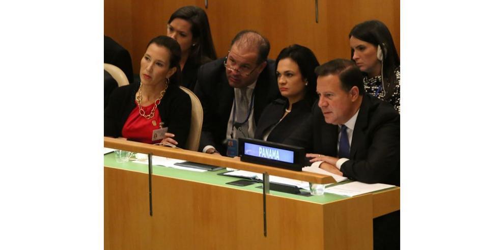 La canciller promociona a Panamá en la Asamblea de las Naciones Unidas