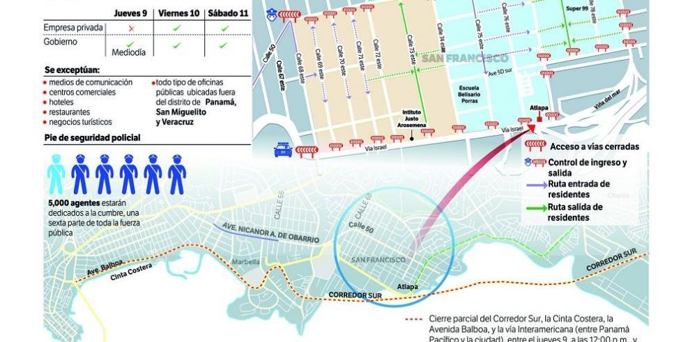 Estados Unidos sitia la ciudad de Panamá para la Cumbre