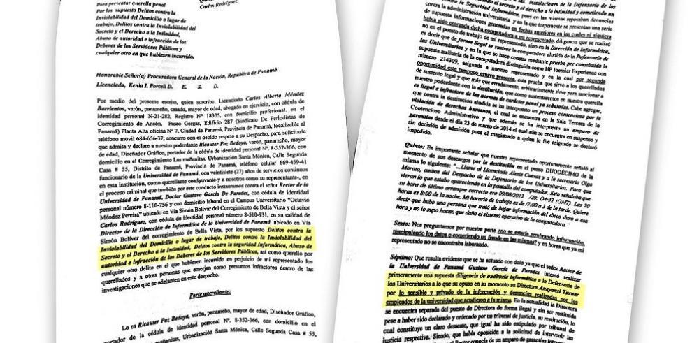 Denuncian a rector de la UP por delito contra la privacidad