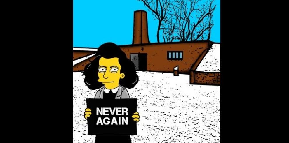 Los Simpson convertidos en prisioneros de Auschwitz