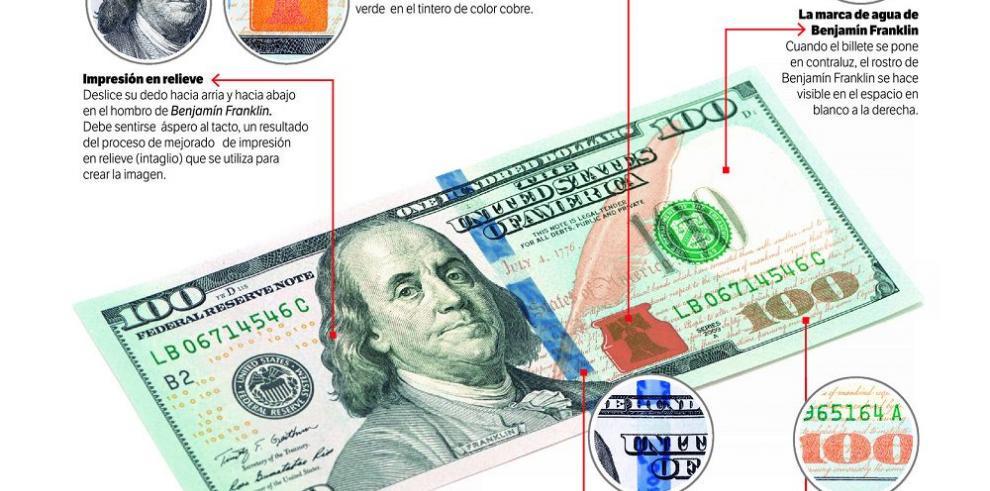Tesoro de EE.UU. mejora autenticidad de billetes de $100