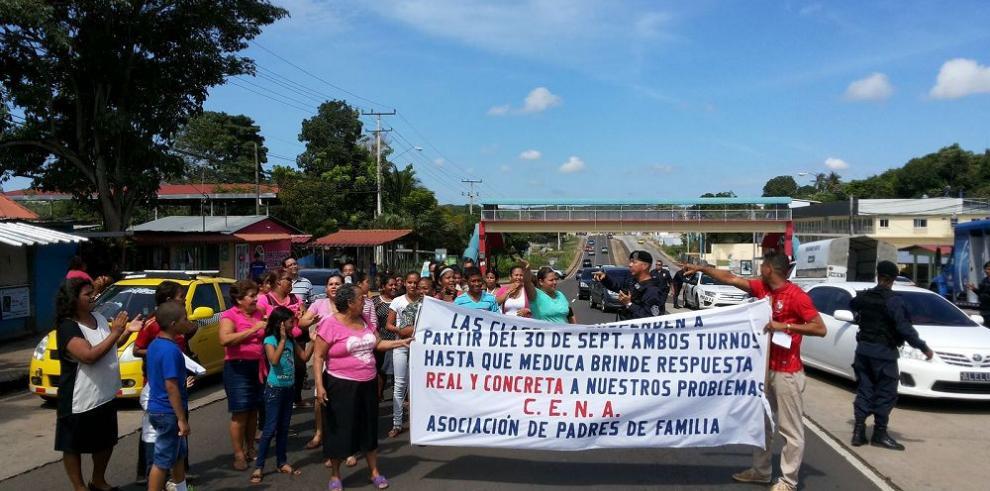 Protesta y declaración de huelga escolar en Arraiján