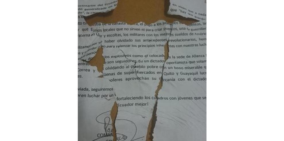 Explotan bombas panfletarias en dos diarios ecuatorianos