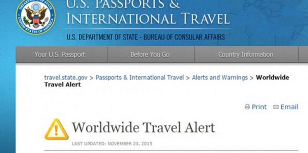 EEUU emite una alerta mundial de viaje por el terrorismo