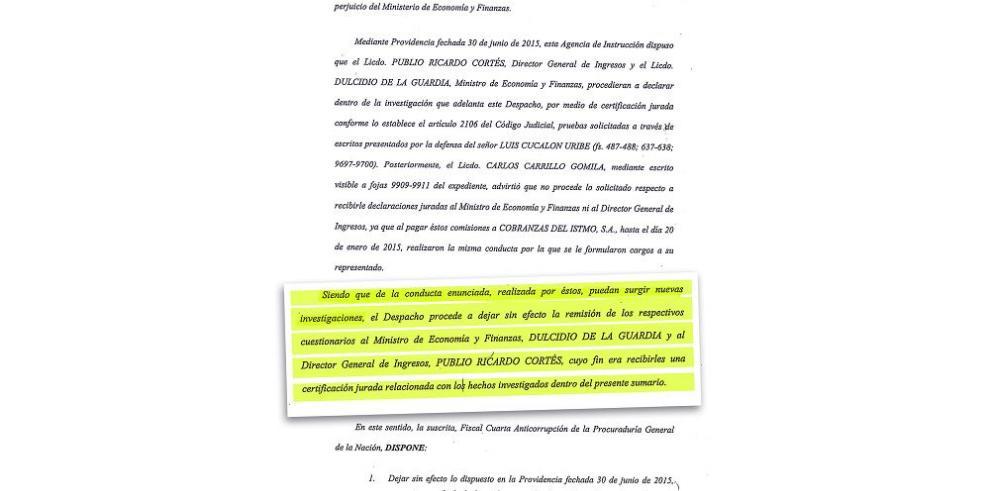 """De La Guardia y Cortés, potenciales implicados en caso """"Cobranzas"""""""