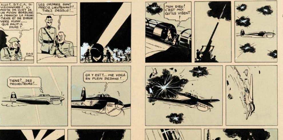 Una plancha de un álbum de Tintin de 1939 subastada por 1.563.000