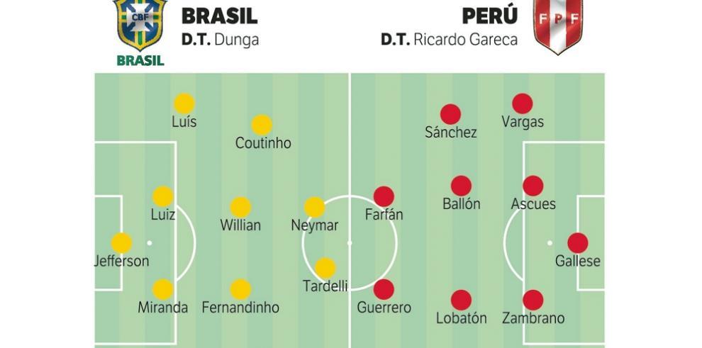 Brasil con Neymar se estrena frente a Perú