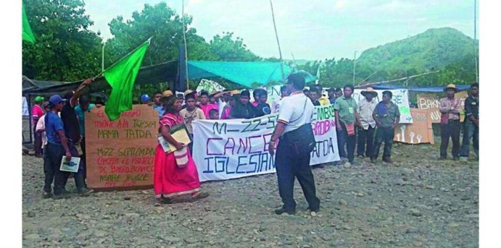 Indígenas protestan en Bocas del Toro, en rechazo a hidroeléctrica
