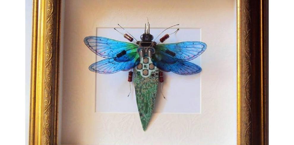Asombrosas creaciones de insectos con materiales reciclados