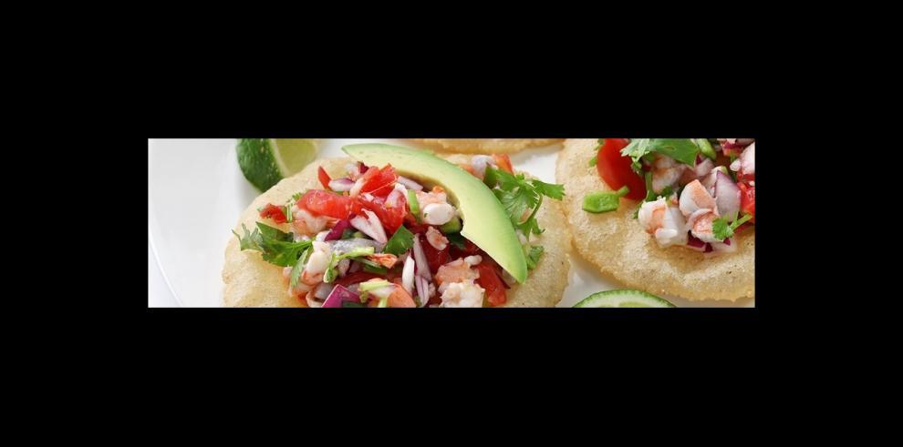Tostadas de Ceviche con camarón
