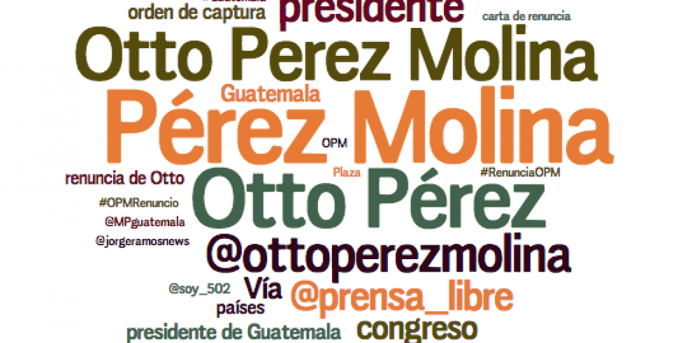 Convocatorias contra Otto Pérez Molina baten récord en redes sociales