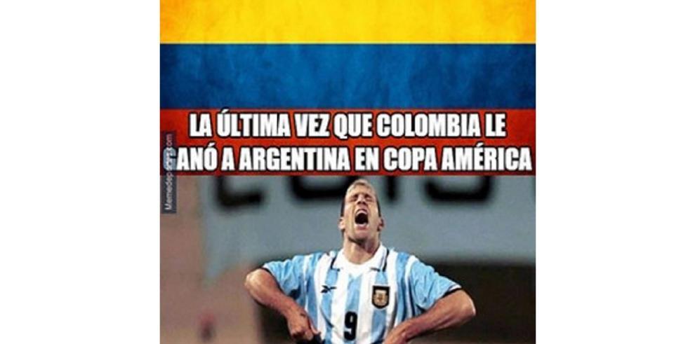 Memes tras el duelo de Colombia y Argentina
