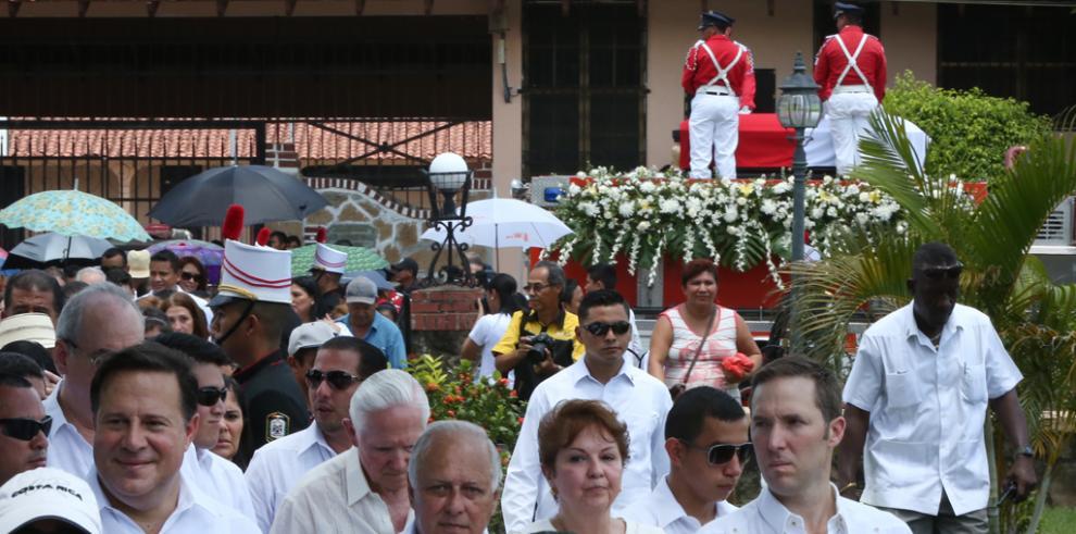 Restos de Juan Demóstenes Arosemena ya están en Santiago