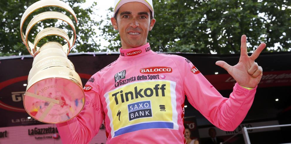 Contador, ganador del Giro de Italia