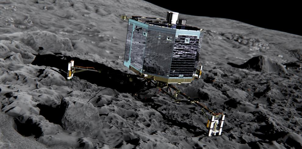 Últimas esperanzas de despertar al robot Philae posado en un cometa