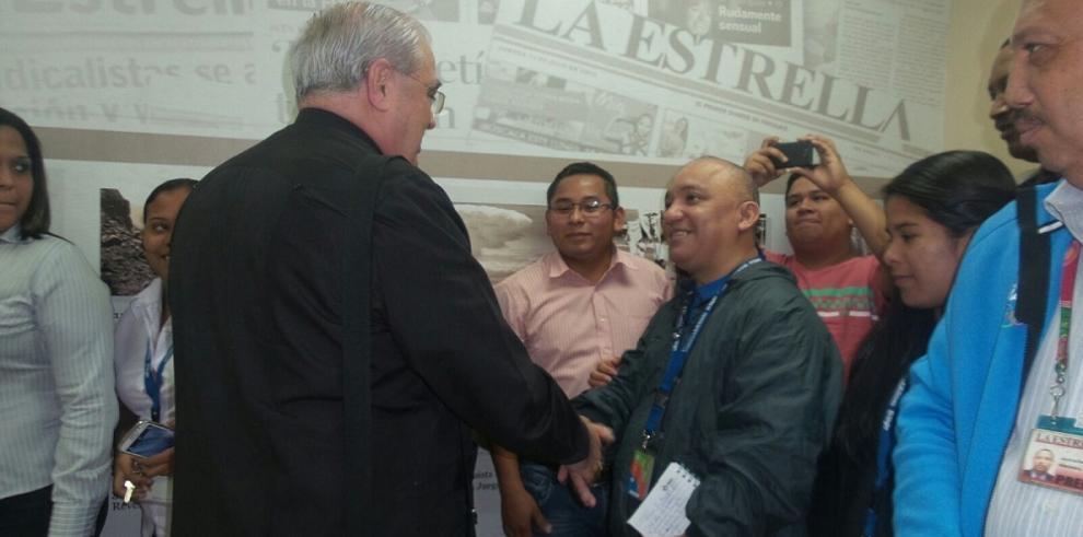 Cardenal José Luis Lacunza visitó La Estrella de Panamá y El Siglo