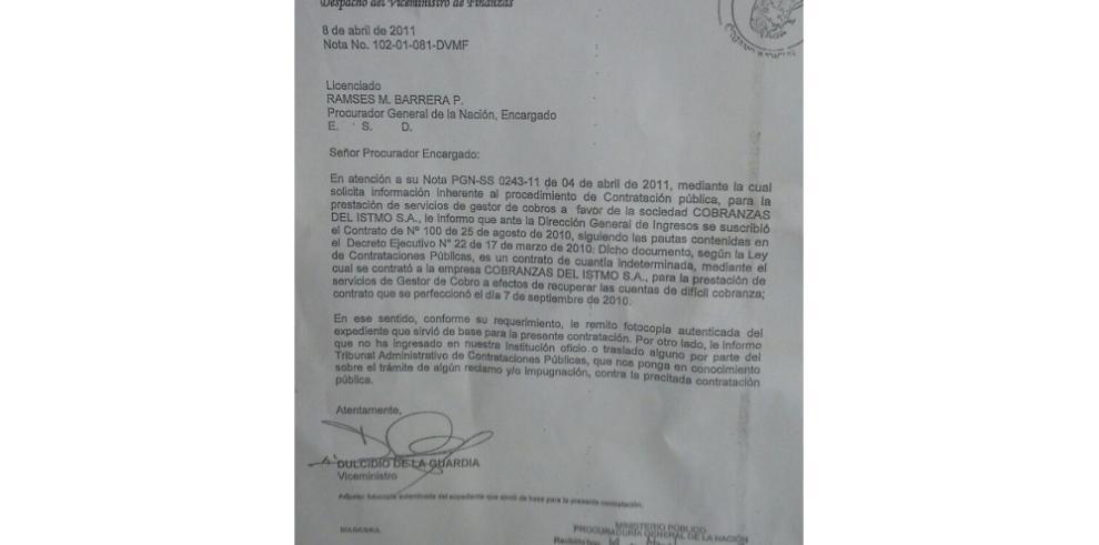 Carta complica a De La Guardia y podría ser llamado a declarar
