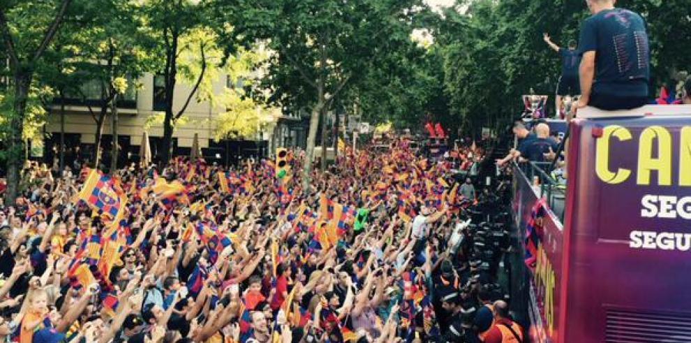Los campeones de Europa llegan a Barcelona para celebrar