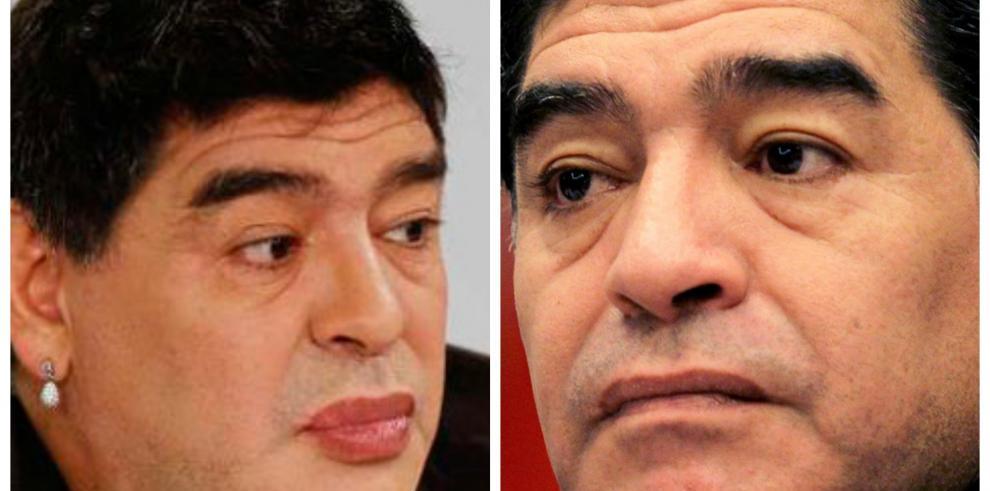 Causa revuelo imagen de Maradona con labios pintados